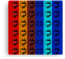 Red vs. Blue (group one) Canvas Print