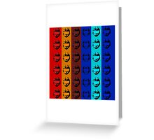 Red vs. Blue (group one) Greeting Card