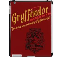 Gryffindor Harry Potter House Poster iPad Case/Skin