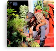 The Gardener Next Door Canvas Print