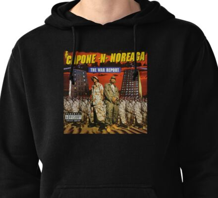 Capone and Noreaga The War Report Cover Art Supreme Pullover Hoodie