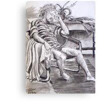 Seated Man - Figure Study Canvas Print