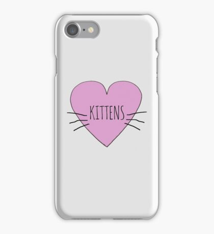 I LOVE KITTENS iPhone Case/Skin