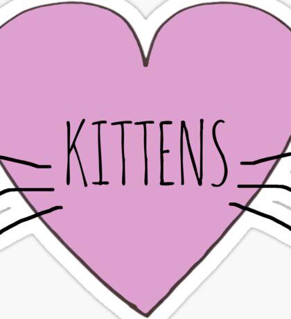 I LOVE KITTENS Sticker