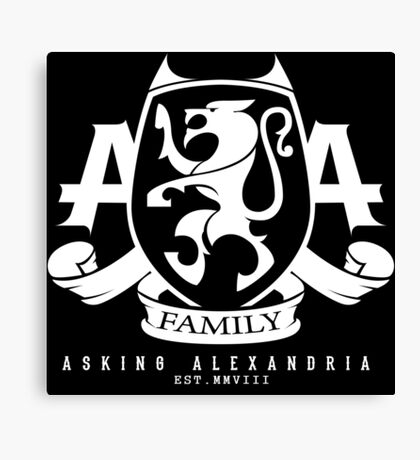 Asking Alexandria Family logo tshirt and hoodie Canvas Print