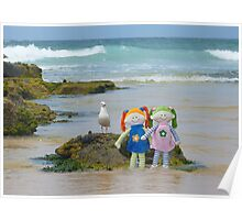 Dollies at the Beach Poster