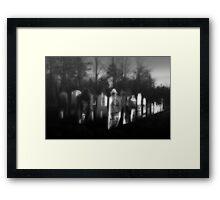 Eerie Interment Framed Print