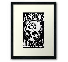 Asking Alexandria Skull  tshirt and hoodie Framed Print