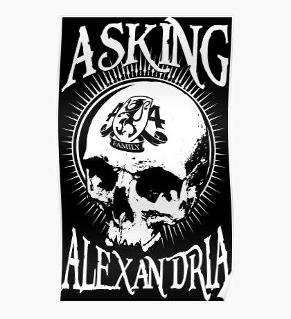 Asking Alexandria Skull  tshirt and hoodie Poster