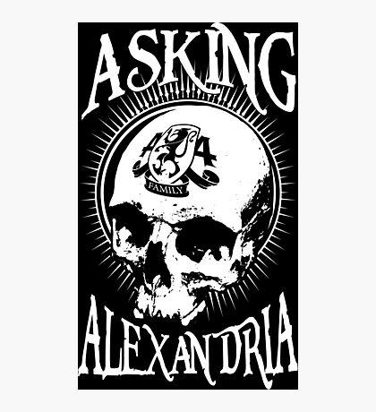 Asking Alexandria Skull  tshirt and hoodie Photographic Print