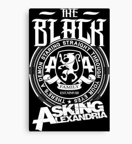 Asking Alexandria  the black album tshirts and hoodies Canvas Print