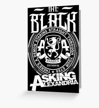 Asking Alexandria  the black album tshirts and hoodies Greeting Card