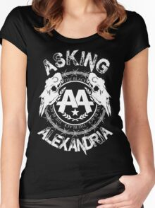 Asking Alexandria  the black album 2 tshirts and hoodies Women's Fitted Scoop T-Shirt