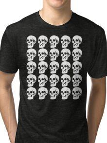 White Skulls Tri-blend T-Shirt