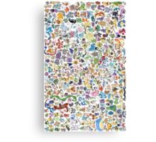 pokemons Canvas Print