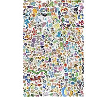 pokemons Photographic Print