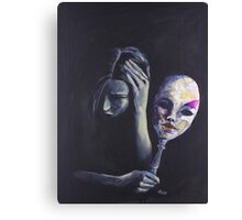The Mask She Hides Behind Canvas Print