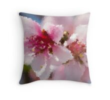 peach blossom in spring Throw Pillow