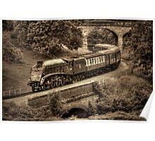 Sir Nigel Gresley Locomotive - Sepia Poster