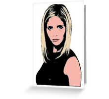 Pop Art Buffy Greeting Card
