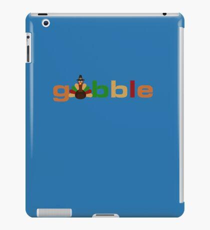 Gobble Cute Thanksgiving Turkey Fun  iPad Case/Skin
