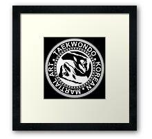 Taekwondo Fist Yin Yang Korea Martial Art Framed Print