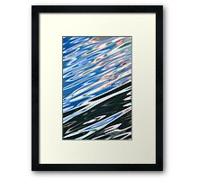 Blue Black Abstract Water Framed Print