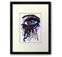 Colorful Watercolor Eye Framed Print