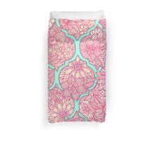 Moroccan Floral Lattice Arrangement - pink Duvet Cover