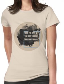 DON'T HURT YOURSELF, Womens Fitted T-Shirt