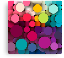 Colorful abstract geometric background with a mosaic effect with different diameter circles Canvas Print