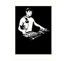 DJ Spock mixing on the decks (star trek) Art Print