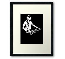 DJ Spock mixing on the decks (star trek) Framed Print