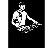DJ Spock mixing on the decks (star trek) Photographic Print