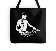 DJ Spock mixing on the decks (star trek) Tote Bag