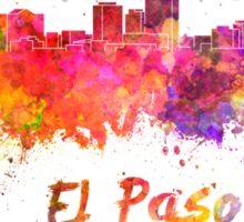 El Paso skyline in watercolor Sticker