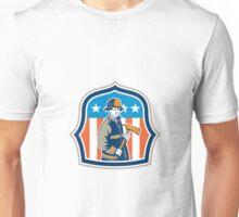 American Fireman Firefighter Fire Axe Shield Unisex T-Shirt