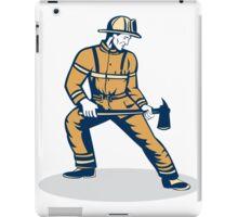 Fireman Firefighter Standing Holding Fire Axe iPad Case/Skin