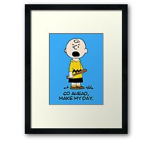 Charlie Make my day Framed Print