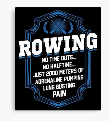 2000 Meters Rowing Canvas Print