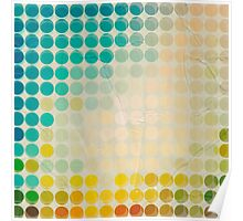 Abstract circles background with grunge paper Poster