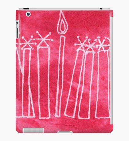 Happy Hanukkah (Hanukkiah) iPad Case/Skin
