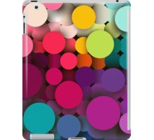 Colorful abstract geometric background with a mosaic effect with different diameter circles iPad Case/Skin