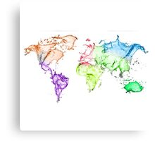 World in Water Canvas Print