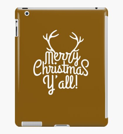 Merry Christmas Y'all Cute Southern Girl Gift  iPad Case/Skin