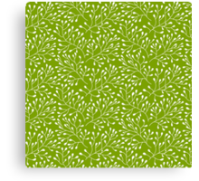 Floral green seamless pattern Canvas Print