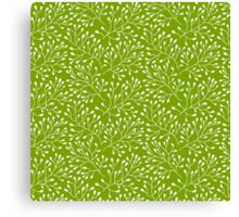 Floral green seamless pattern Canvas Print