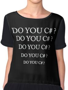 Do you C# ? Chiffon Top