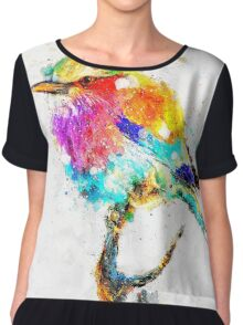 Artistic - IV - Colorful bird Chiffon Top