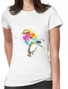 Artistic - IV - Colorful bird Womens Fitted T-Shirt